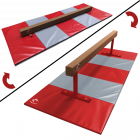Low to Midi 2in1 Balance Beam 2.4m & Large Folding Panel Mat 3m Package - Club Range