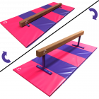 Low to Midi 2in1 Balance Beam 2.4m & Large Folding Panel Mat 3m Package