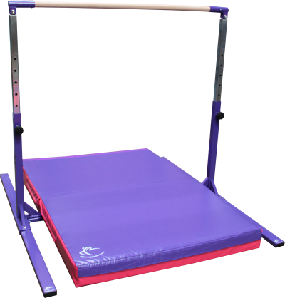 Tall Gymnastics High Bar Adjustable to 190cm & Safety Mat