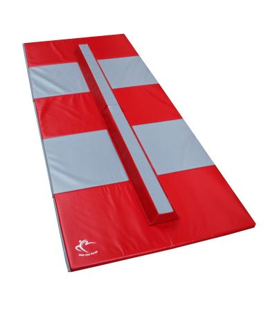 Folding Balance Beam 2.4m & Large Panel Mat 3m – Club Range