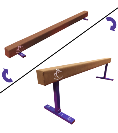 Low to Midi 2in1 Balance Beam 2.4m Package