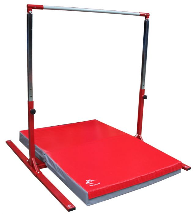 Tall Gymnastics High Bar Adjustable to 190cm & Safety Mat – Club Range