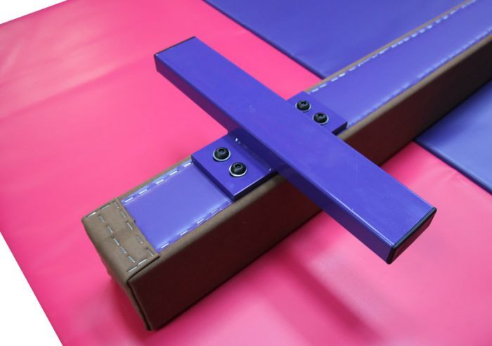 Low Balance Beam 2.4m in Synthetic Suede