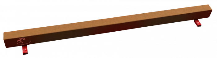 Low Balance Beam 2.4m in Synthetic Suede – Club Range
