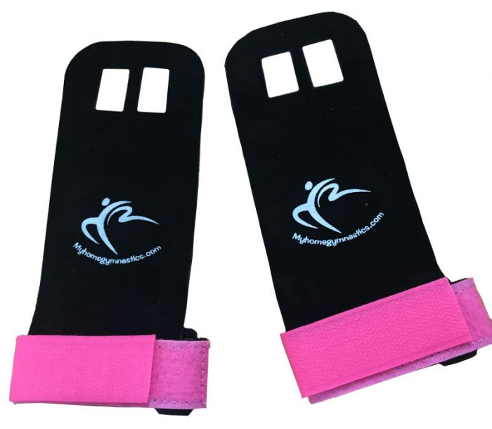 Gymnastics Palm Guards in Soft Leather with Velcro Strap