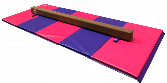 Low Balance Beam 2.4m & Large Panel Mat 3m