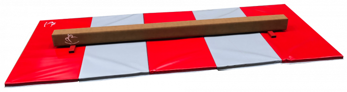 Low Balance Beam 2.4m & Large Panel Mat 3m – Club Range
