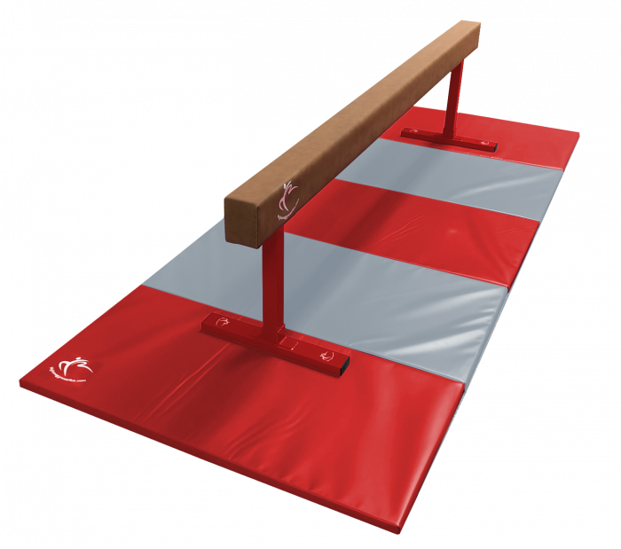 Midi Balance Beam 2.4m & Large Folding Panel Mat 3m - Club Range