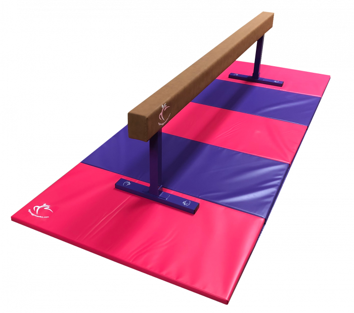 Midi Balance Beam 2.4m & Large Folding Panel Mat 3m